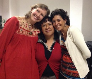 Our multi-cultural facilitators team: Erika (American), Mary (Mexican) and Patty (Colombian)