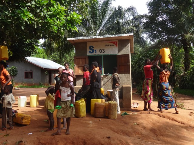 Water kiosk in Gemena, DR Congo