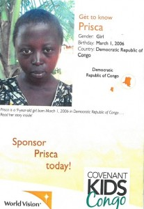 A Covenant Kids Congo picture folder
