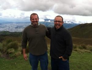 Fabio  and Joel at the teleferico