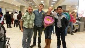 Erik and Kristina's arrival at the airport.