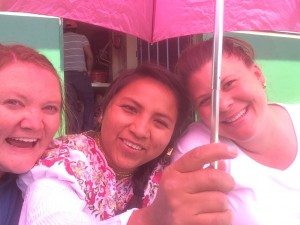 Annalea, Myrian (our fearless translator and friend) and Kim a year ago in August with our first medical team with the Santiago Partnership