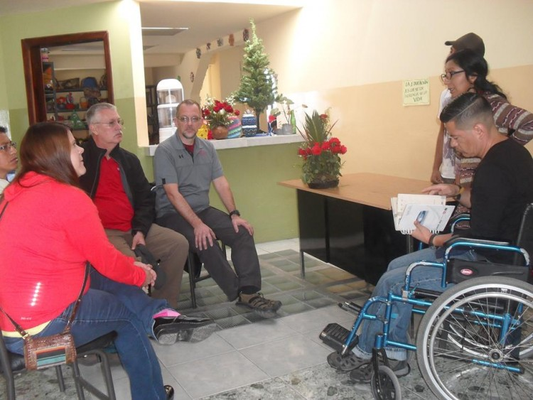 Meeting with the members of the Movement of people with disabilities in Cayambe