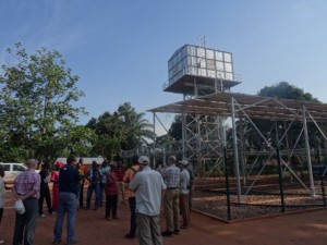100 cubic meter tank (26,000 gal) and solar array