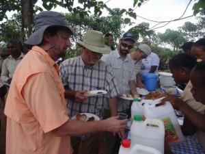 CKC team tasting the refreshments