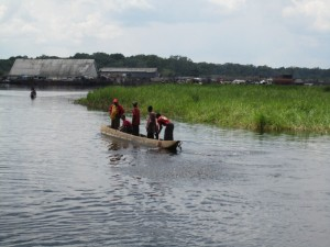 Many Congolese use the rivers like highways to transport goods and sell at port cities if the rivers are passable.