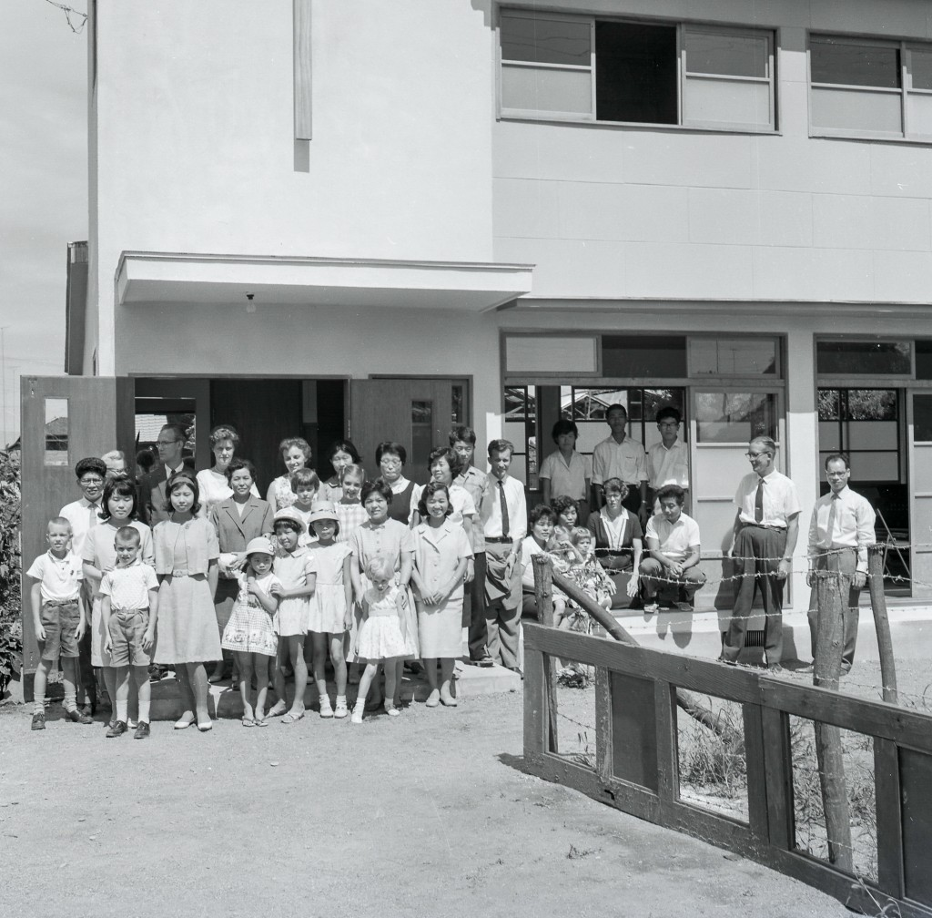 The new church being dedicated on September 9th, 1962.