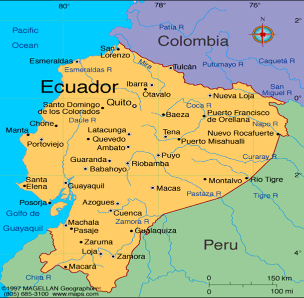 Whats kim up to delplogdelplog this is a map of ecuador if you find quito close to where it says ecuador then go south and east you will see tena gumiabroncs Images