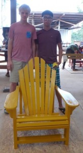 Andre & Chan Ho's gave their yellow chair a unique back design.