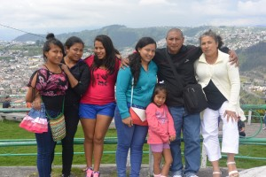 The majority of the Rocha family, although missing a couple after lunch on Sunday by the Panecillo