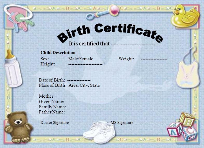 Update on birth certificate delplog for Baby doll birth certificate template